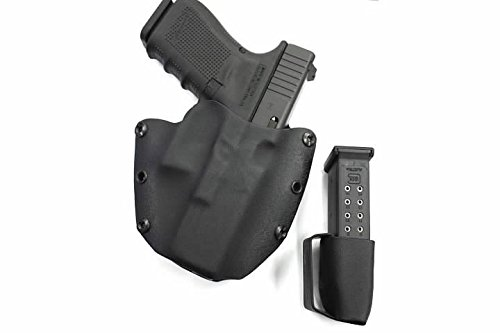 """Advanced Performance Shooting Holsters """"Protective Services Elite"""" with Magazine Pouch Combo (OWB, Storm Gray)"""