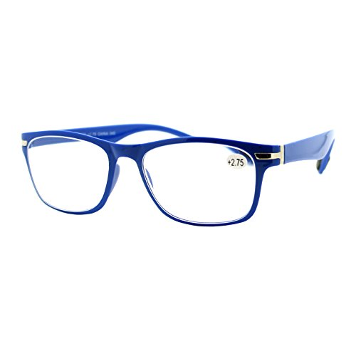 Magnified Reading Glasses Rectangular Flexible Plastic Frame Light Blue - Glasses Reading Blue Frame