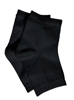 Pedicure Socks Cotton Open Toe- 1 pair (Black)