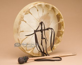 East West Side Set (Deer Skin Native American Hoop Drum 10