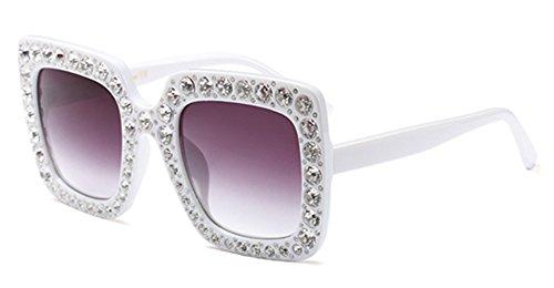 Crystal Rim Glitter Luxury Brand Designer Oversized Square Women - Sunglasses Luxury Crystal Square Sunglasses