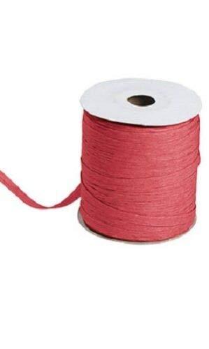Red Raspberry Matte Raffia Ribbon Gift Wrap Wedding 1/2'' Wide 500 Yards Bow by retail-warehouse
