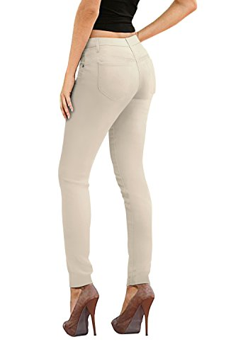 Women's Skinny Fit Stretch Twill Pant-P31710SK-WINTER WHI-3