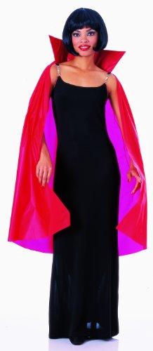 Rubie's Mens 45 Inch Taffeta Cape, Red, One Size Costume