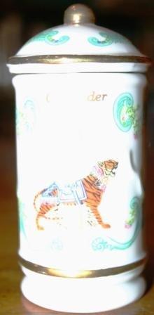 Lenox Porcelain Carousel Spice Jar - Coriander