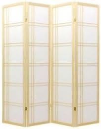 4 Panel Natural Oriental Shoji Screen Room Divider