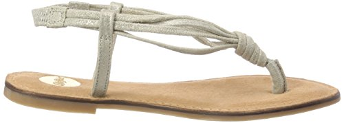 Chanclas Leather Gris 172075 89 Para Mujer Buffalo taupe pvwaCxqx8