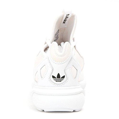 Adidas Heren Buisvormige Runner Originelen Sportschoen Wit / Wit / Zwart