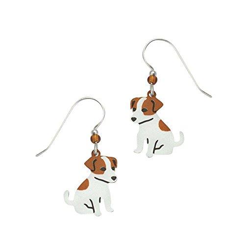 Russel Terrier Jack (Sienna Sky Artisan Jack Jack Russel Terrier Earrings with Gift Box)