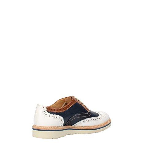 mujer para de Calpierre Piel Azul cordones Blanco Zapatos de XtOwgwYq