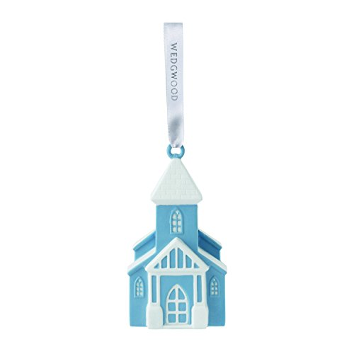 Wedgwood Figural Church Christmas collection, Blue