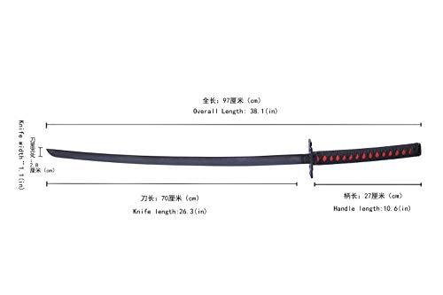 Swords ValleyCosplay of Zangetsu Knife from Bleach Kurosaki Ichigo in Japanese Anime.