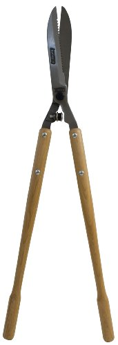 Serrated Hedge Shear (Flexrake FLX427L Forged 8-3/4-Inch Serrated Hedge Shear with Hickory Handle)
