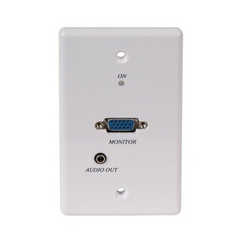 Audio Active Wall Plate - Active VGA plus Audio Balun Wall Plate - Receiver Only