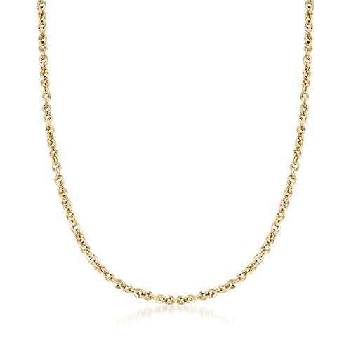 Ross-Simons Italian 3.6mm 14kt Yellow Gold Rope Chain Necklace (Necklace Rope Gold 14kt)