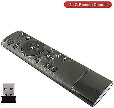 Q5 - Mando a Distancia Bluetooth para Smart TV, Android Box, IPTV, inalámbrico, 2,4 G, con Receptor USB Voz inalámbrica 24G: Amazon.es: Electrónica