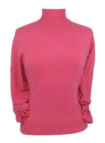 con con Cashmere Ciliegia Ciliegia Donna per Kashmir Pullover Polo Colletto Oxfords q4fCw1w