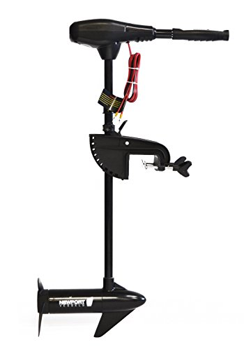 Newport Vessels NV-Series 46lb Thrust Saltwater Transom Mounted Trolling Electric Trolling Motor w/LED Battery Indicator & 30' Shaft