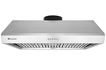 XtremeAir Ultra Series UL13-U42, 42 width, Baffle filters, 3-Speed Mechanical Buttons, Full Seamless, 1.0 mm Non-magnetic S.S, Under cabinet hood