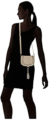 T-Shirt & Jeans Washed Flap Cross Body with Puff Print