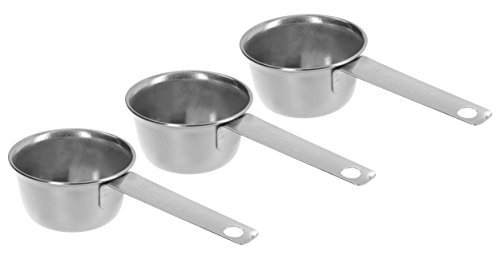 3Pc COFFEE MEASURING SCOOP 1/8 CUP Stainless Steel