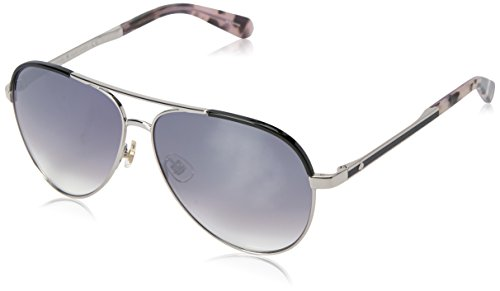 Kate Spade Women's Amarissa Aviator Sunglasses, Palladium Black/Gray SF Mirror Gradient, 59 mm (Palladium Mirror)