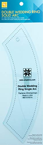 (Wrights 157001A EZ Acrylic Template Double Wedding Single Arc Ring)