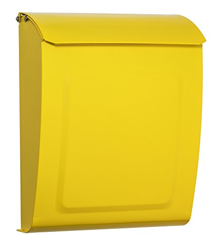 Architectural Mailboxes 2594Y Yellow Aspen Locking Wall Mount Mailbox, Small