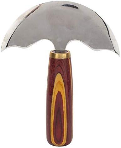 Cuir Couteau Tête Ronde Manche En Bois Avant En Acier DIY Outil De  Correction Leathercraft(L): Amazon.fr: Bricolage