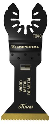 Imperial Blades IBOAT340-1 Oscillating Tool Blade, Bi-Metal Tin Storm Blade, 1.75-In. - Quantity 25