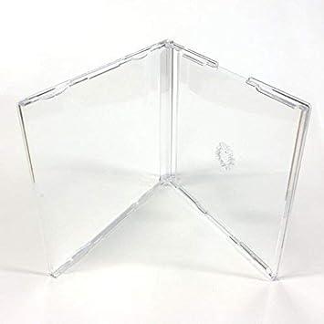 DragonTrading® 25 estuches transparentes de repuesto con lomo de 6 mm para CD y maxi sencillo