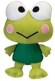 Plush-Keroppi-Frog-By-Sanrio-10-Inches-Manufactured-By-Fiesta-Toys