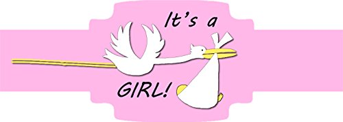 It's a GIRL! (Stork) 20 Pack of Self-Adhering Cigar Bands / Labels (Band Labels Cigar)