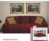 Luxury Burgundy Flower Patterned Loveseat Cover 70X120