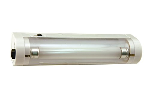 Atron 6 inch Portable Fluorescent Utility Light - for Camping, Bedrooms, Study, Library, Car, Travel, Emergency - SLF6