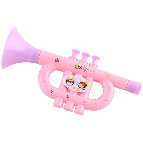 (NszzJixo9 Colorful Baby Kids Horn Hooter Trumpet Instruments Music Toys, Baby Drum Set Music Toy- Kids Educational Games)