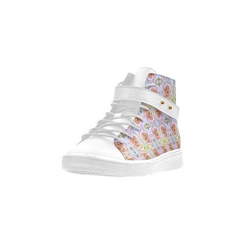 Artsadd Pastel Fleurs Bout Rond Chaussures Pour Femmes Boost Sneaker