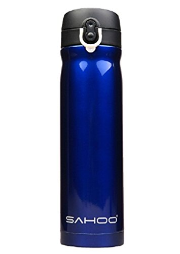 JYM 500ml Stainless Steel Vacuum Insulated Cycling Water Bottle- Blue