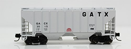 (Fox Valley Models N 85405 3000 Cu.Ft. 2-Bay Covered Hopper, GATX (Gray, Large GATX))