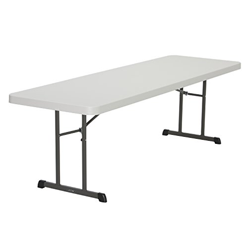 8' Rattle (Lifetime Products 80250 Professional Folding Table, 8', Almond)