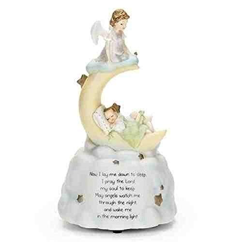 (Sweet Dreams Guardian Angel Baby Prayer Musical Music Figurine Statue Plays Brahm's Lullaby)