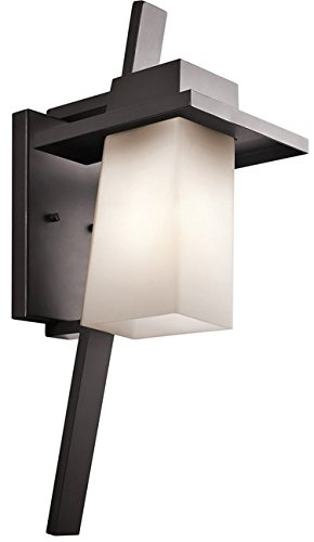 Kichler 49258AZ Stonebrook Outdoor Wall 1-Light, Architectural Bronze
