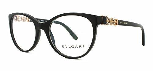 Bulgari Montures de lunettes 4099B Pour Femme Black, 51mm 501: Black