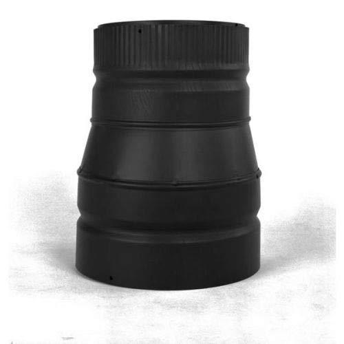 (Chimney 21380 Heat-Fab 22GA Black Stovepipe Increaser - 8 Inch-F - 6 Inch-M)