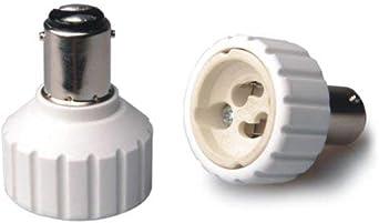 2 Stück Sockel Adapter B15 B15D BA15D auf G9 for SMD LED Lampen Deutsche Post