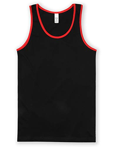red and black tank top - 1