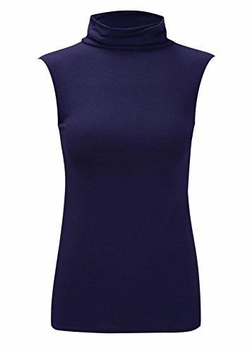 AHR_Manchester_LTD - Camiseta sin mangas - Chaleco Top - Básico - para mujer azul marino