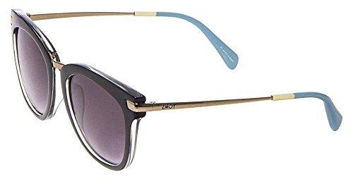 f52548269d0c Image Unavailable. Image not available for. Colour: TOMS 10002054 Women's  Adeline Black Frame Purple Lens Oversized Sunglasses