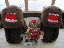 """Domo Kun Cosplay Adult Plush Stuffed Rave Shoes Indoor Room Slippers 11"""""""