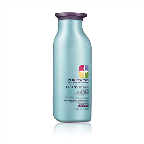 - Pureology Strength Cure Sulfate Free Shampoo for Damaged Hair, 8.5 oz.
